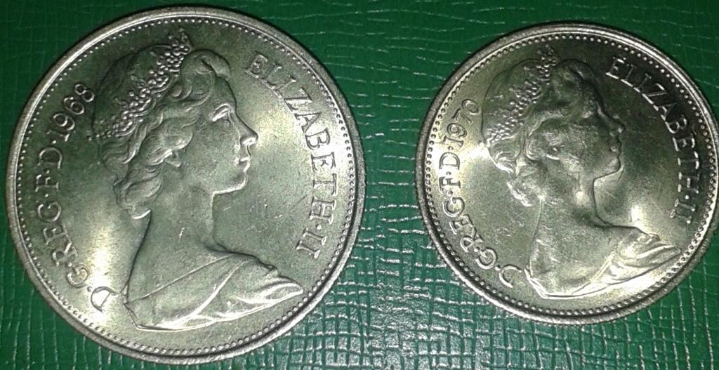 Anglia  5 i 10 pence , mennicze