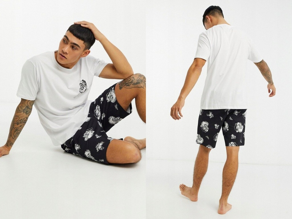 DESIGN Świąteczna piżama: t-shirt i szorty S