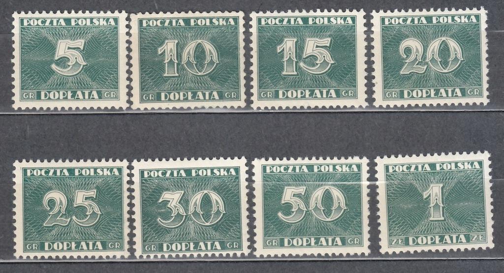 1938 Znaczki dopłaty Fi D 92-99 **