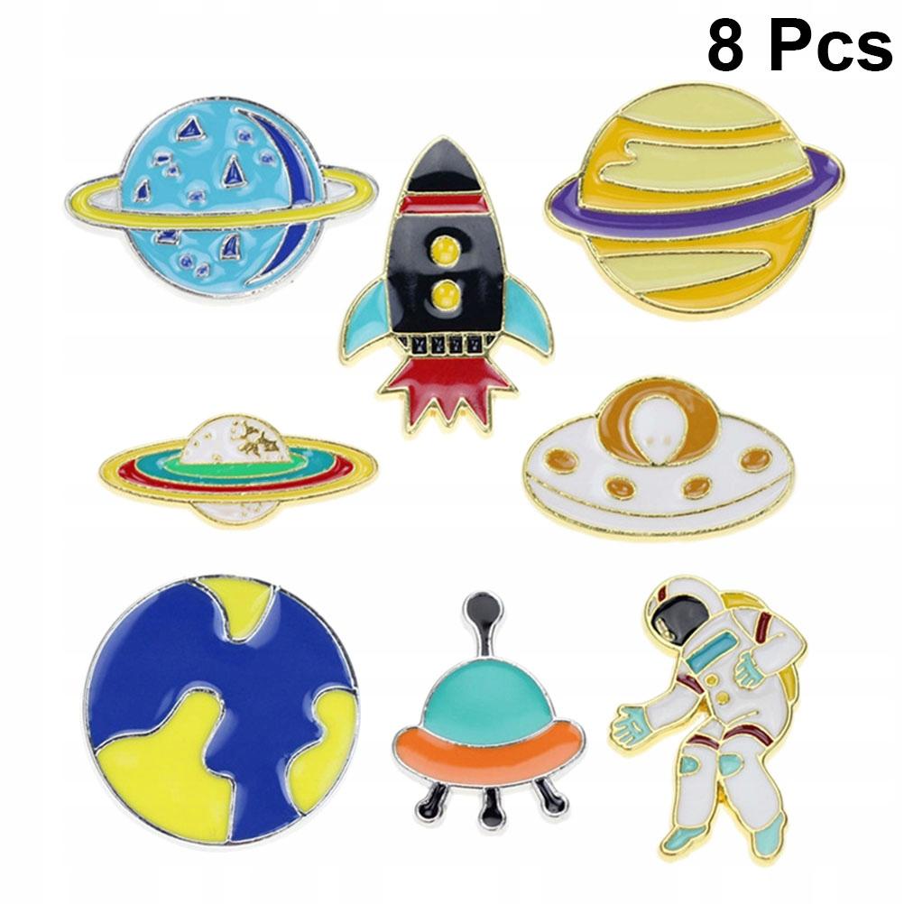 8szt. Cartoon Spaceman Shape Design Kreatywna dzie