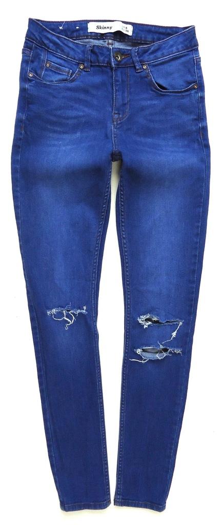 NEW LOOK spodnie jeansy rurki SKINNY 36