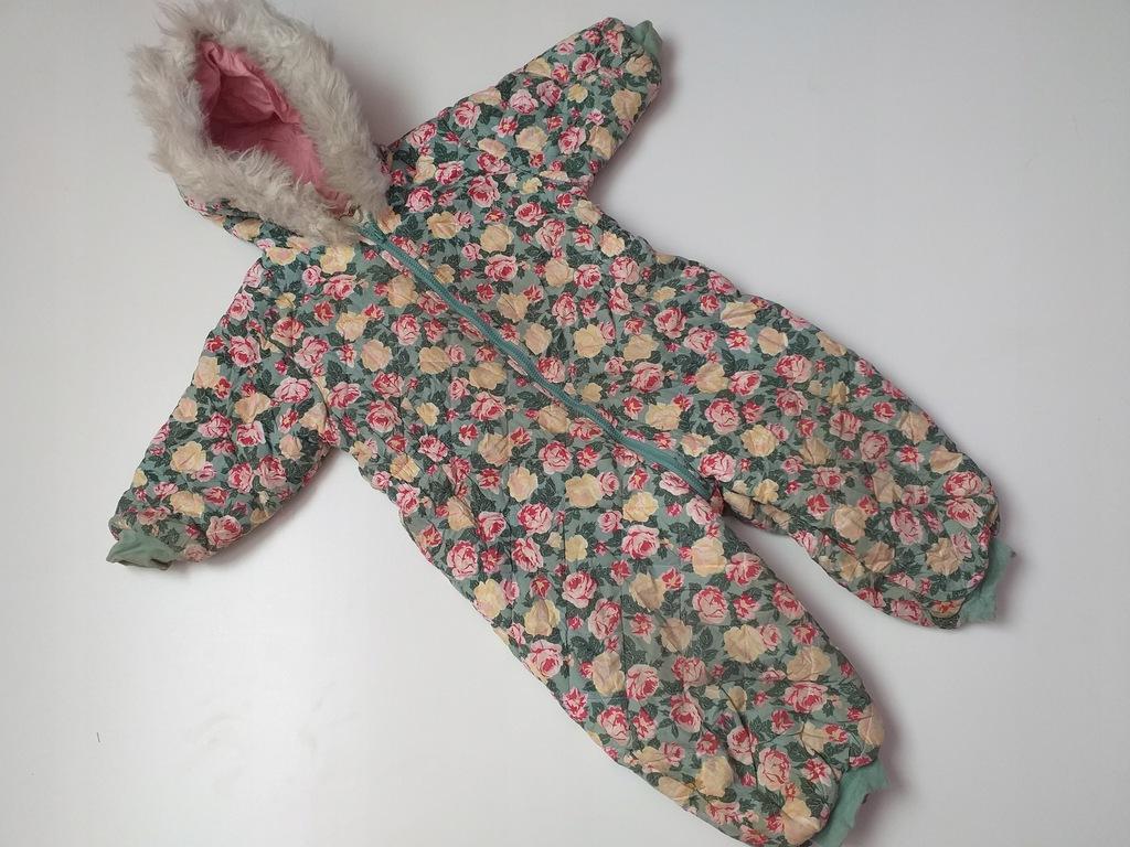 agastyl H&M kombinezon w róże futerko 86