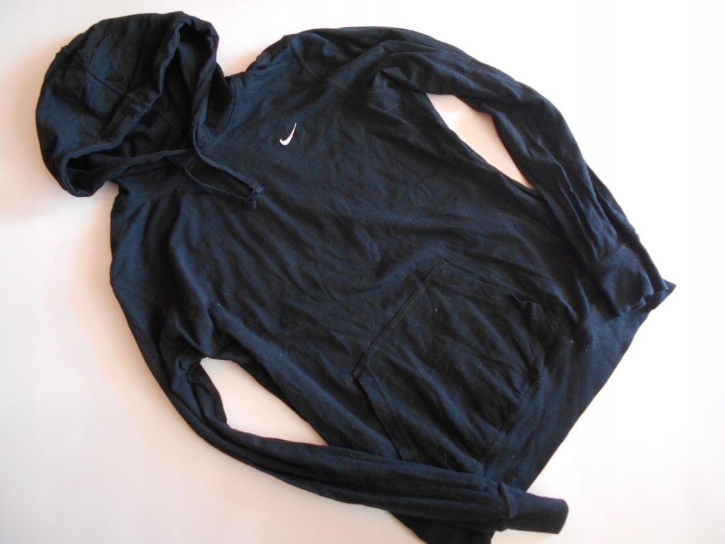 NIKE bluza DRESOWA kaptur czarna cienka L