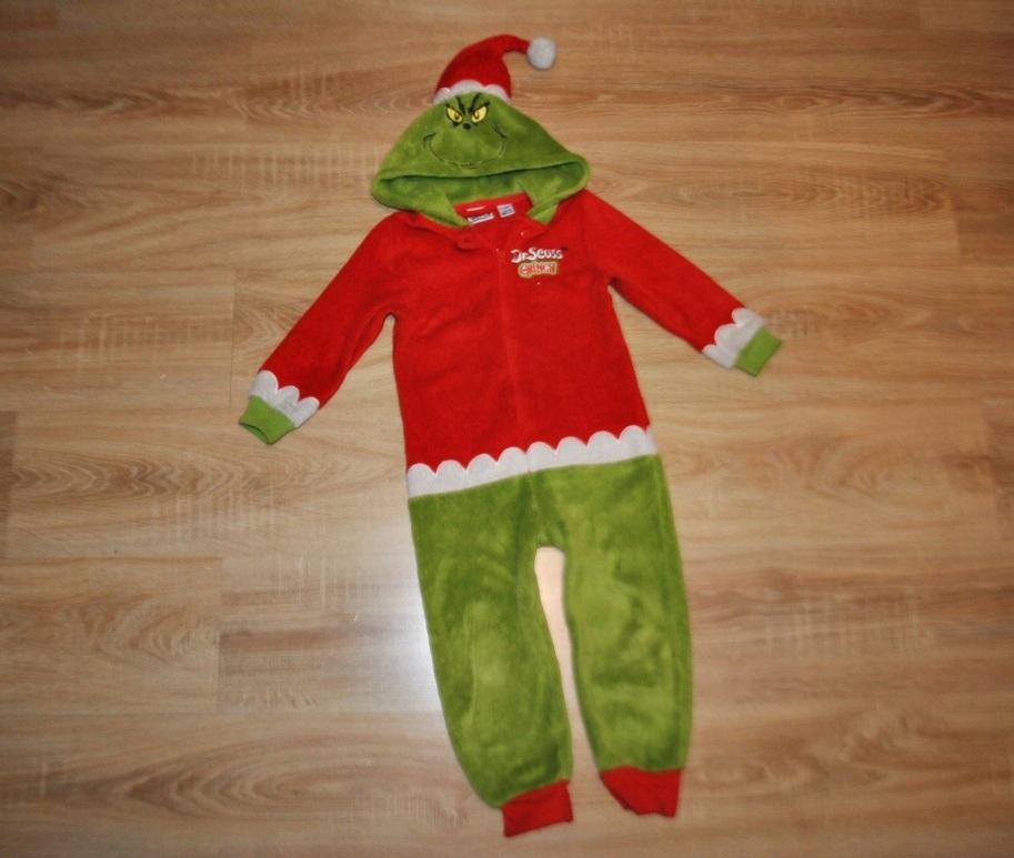 PRIMARK ciepła piżama pajacyk GRINCH 110