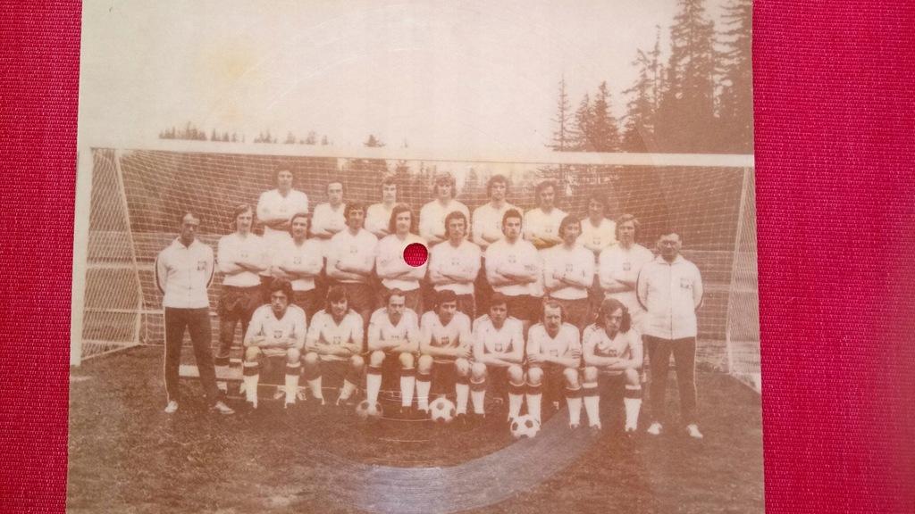 Piłka autografy Orły Górskiego Mistrzostwa Świata 1974
