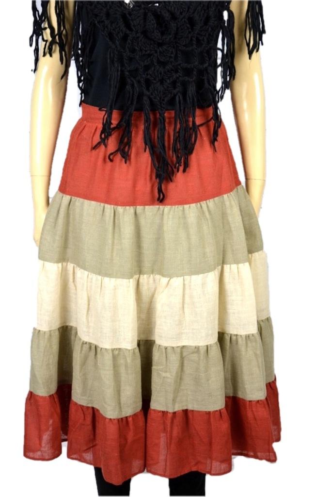 Cudna spódnica meksykański styl boho hippie gypsy