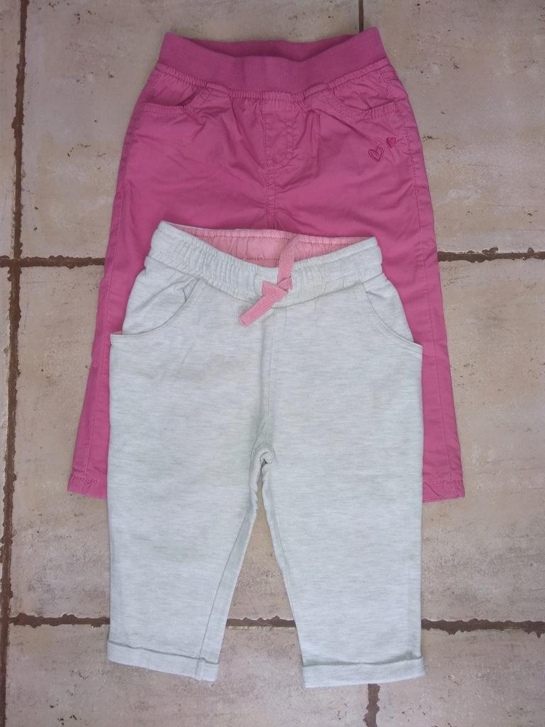 Spodnie dla dziewczynki rozm. 80 - 2 pary