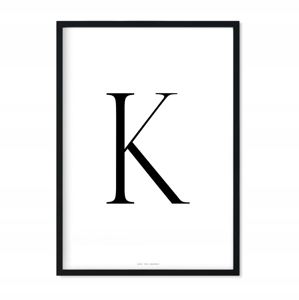 Plakat z Literą K Do domu Prezent Ślubny 30x40 cm