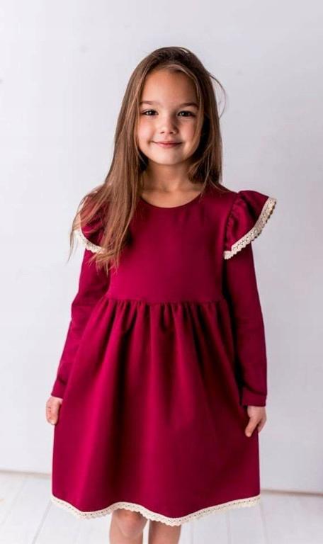 Sukienka śliczna bordowa ! pierwsza jakość
