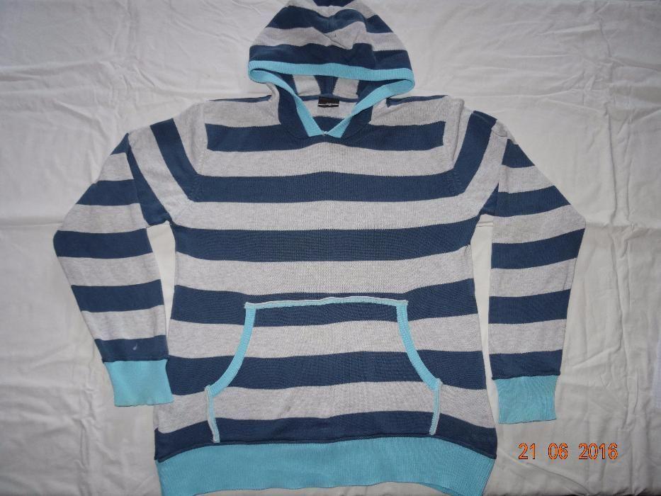 Sweter bluza z kapturem kangurka Next roz 146-152