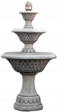 VB Fontanna ogrodowa betonowa trzypoziomowa szyszk