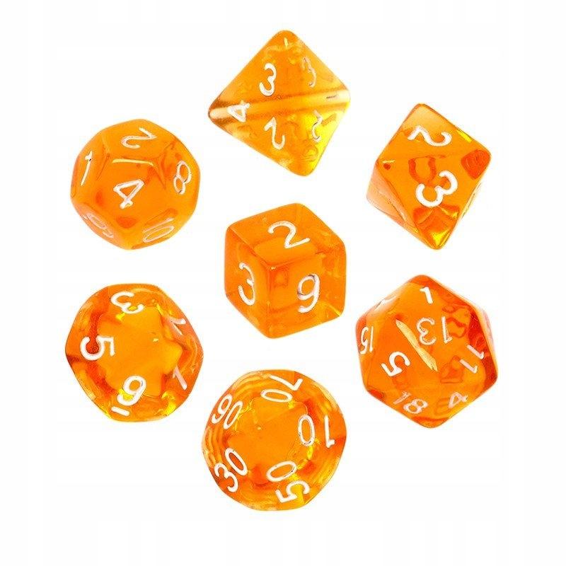 Rebel Komplet kości Kryształowe Pomarańczowe