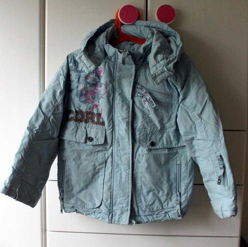 Komplet na zimę: kurtka + spodnie, rozm. 116