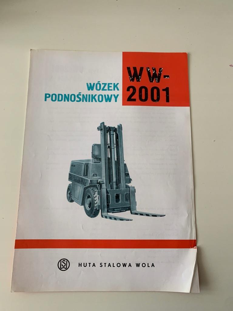 HUTA STALOWA WOLA PROSPEKT WÓZEK WIDŁOWY WW 2001