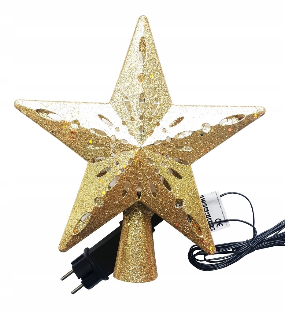 Szpic Gwiazda Na Choinke Z Projektorem Led Zloty 9652222489 Oficjalne Archiwum Allegro