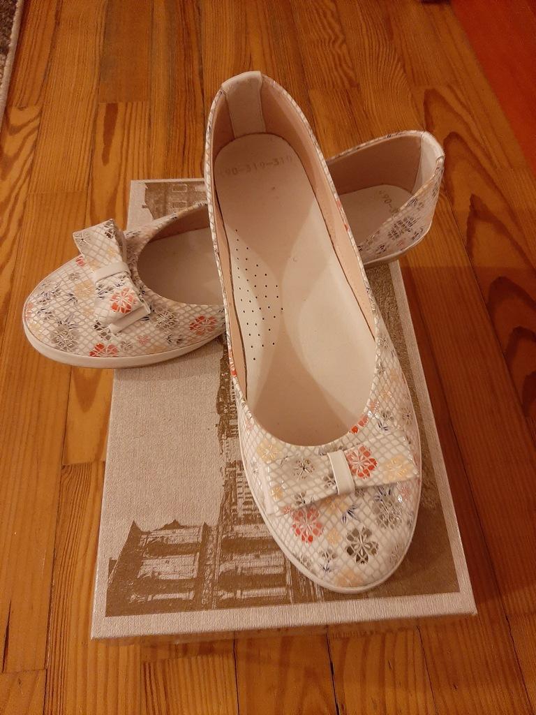 Przepiękne buty Venezia roz 39 skóra Nowe Polecam