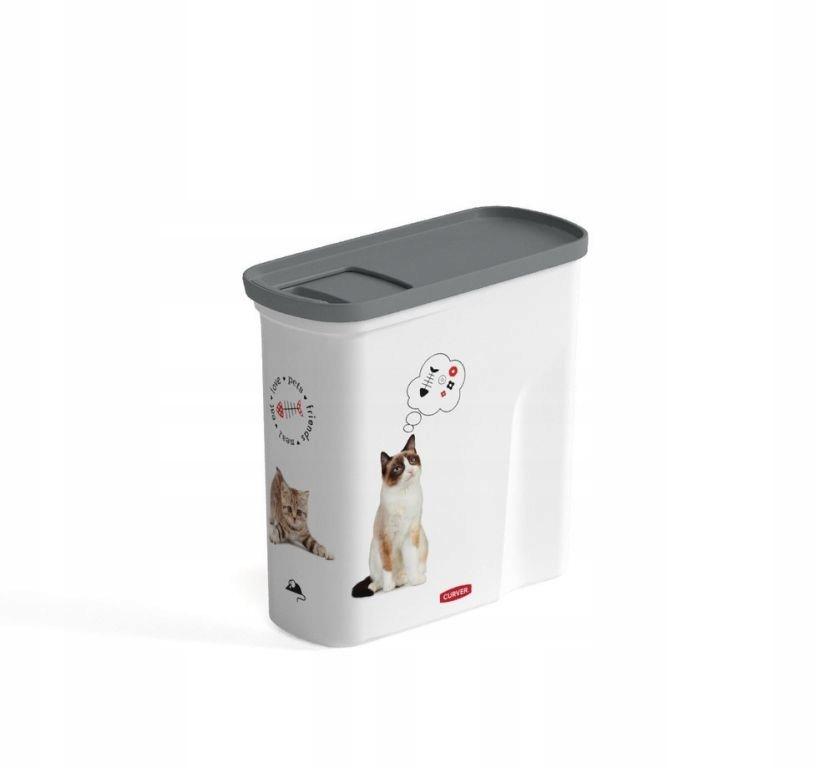 Pojemnik na karmę dla kota Curver 2 l