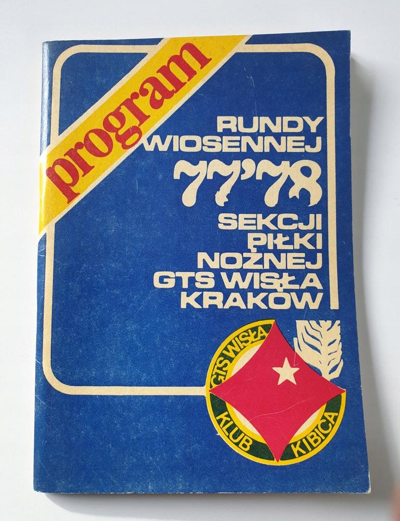 PROGRAM WISŁA KRAKÓW SEZON JESIEŃ 1977/78