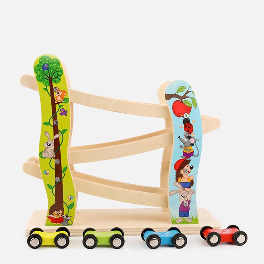 1pc Wooden Children Gliding Car Inertia Toy Wooden