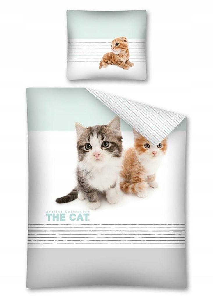 Pościel 160x200 Bawełniana Dziecięca The Cat Kotki