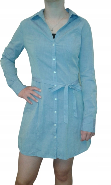 Tunika koszulowa H&M Rękaw regulowany 38/UK8