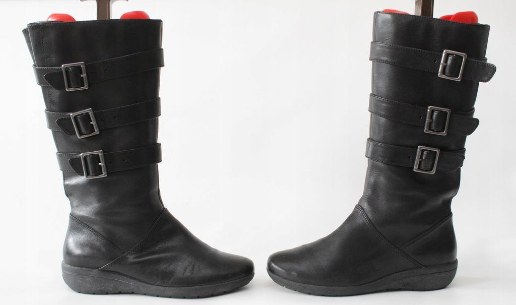 CLARKS - skórzane kozaki 37,5 (24 cm)