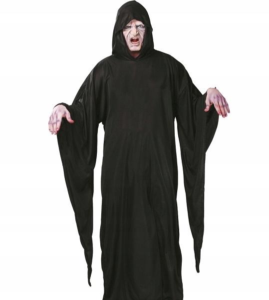 Peleryna z kapturem czarna na Halloween party