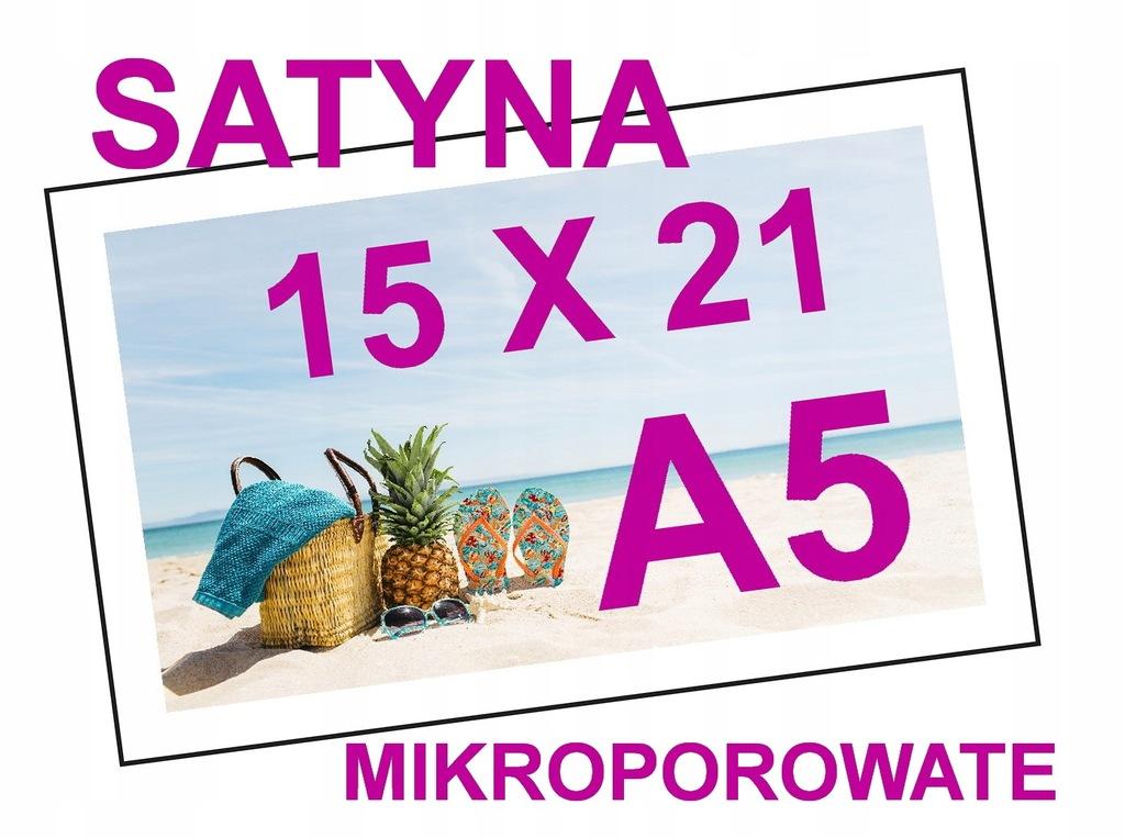 ODBITKI ZDJĘĆ A5 15X21 SATYNA 290g PREMIUM JAKOŚĆ