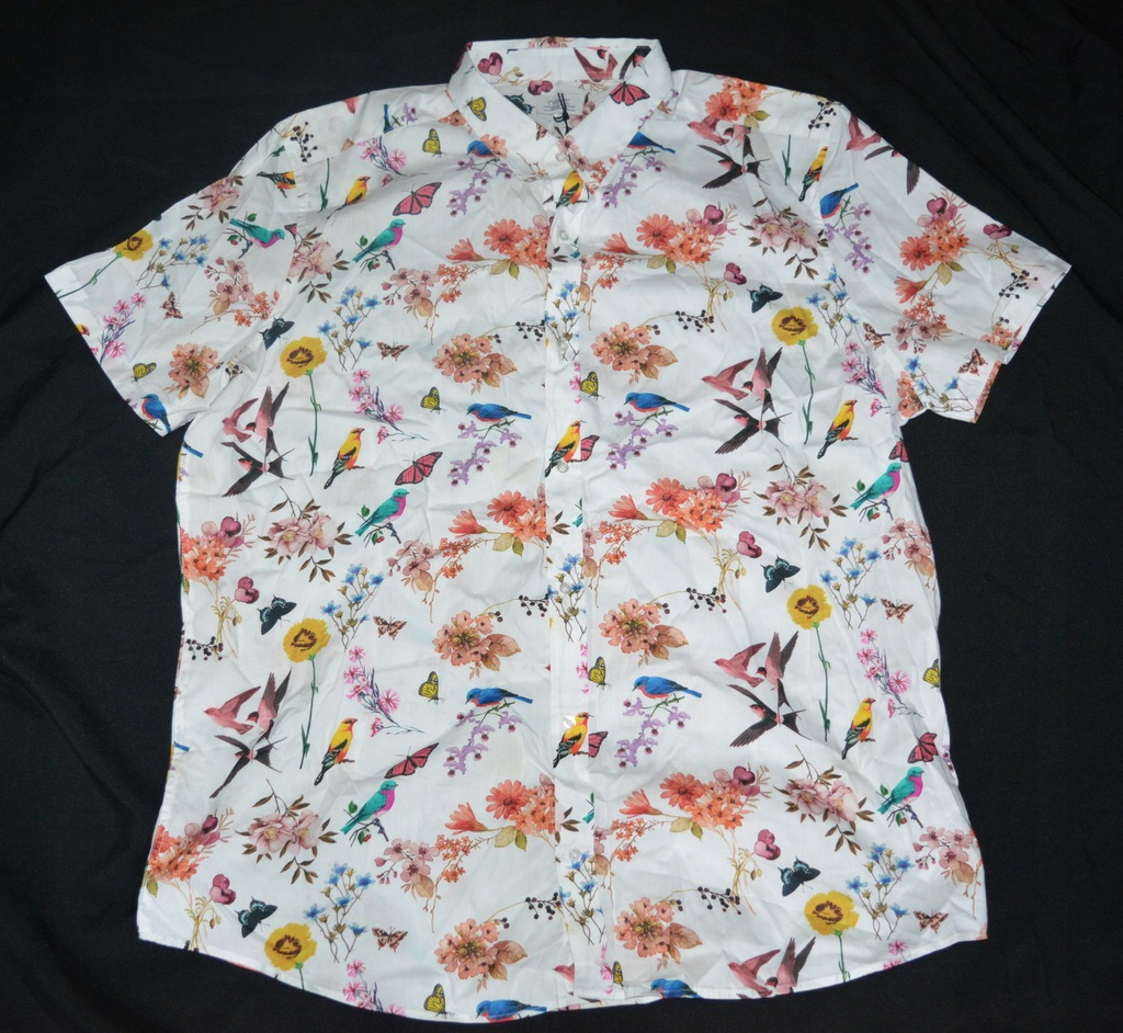 tdp1* Koszula w kwiaty Next slim fit XXL
