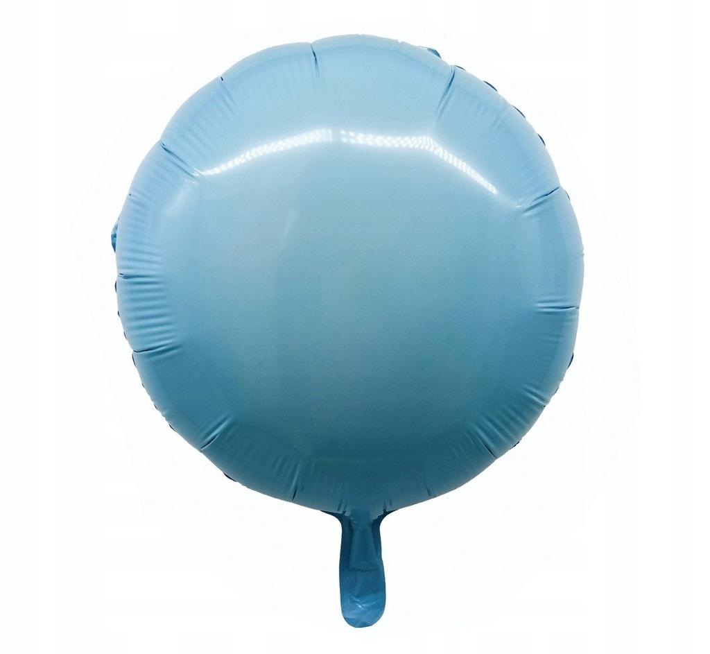 Balon foliowy OKRĄGŁY, błękitny
