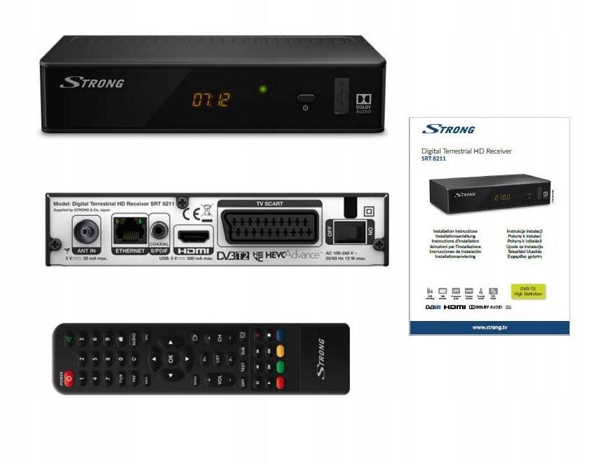 STRONG SRT 8211 Tuner DVB-T2 USB HDMI EPG H.265
