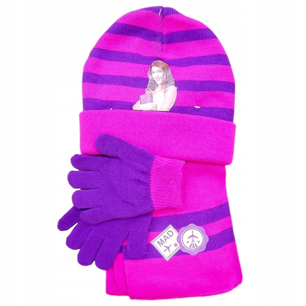 Komplet czapka jesienna / zimowa, rękawiczki i sza