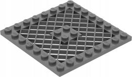 LEGO PŁYTKA KRATA 8X8 D.BLUISH GRAY 4299022 4151b