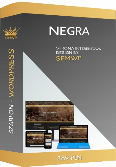 Szablon CMS WordPress Strona Internetowa NEGRA