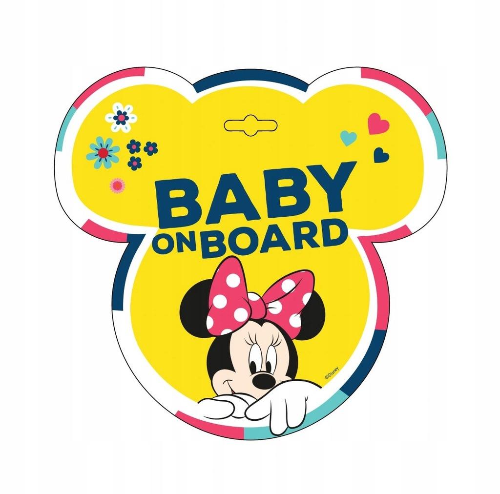 TABLICZKA BABY ON BOARD MINNIE