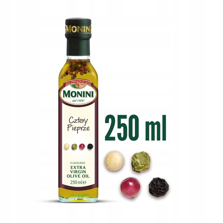 Monini Oliwa extra virgin cztery pieprze 250 ml