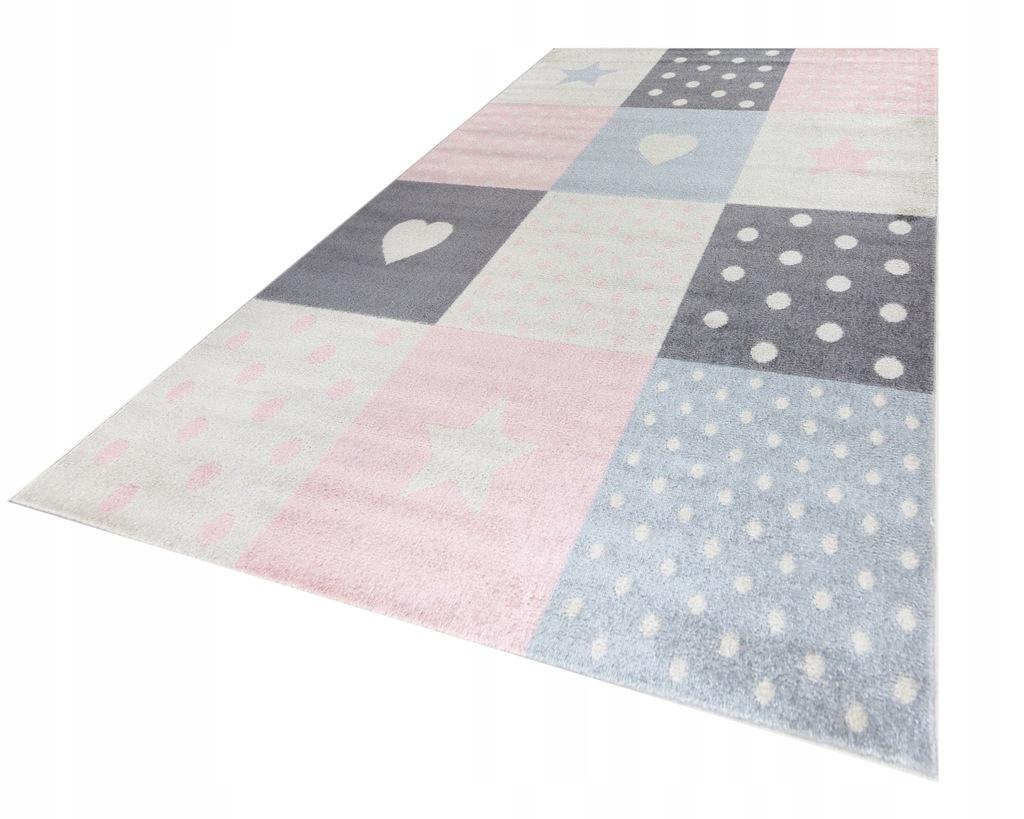 Niespotykany dywan dla dzieci 200x290 stylowy pink