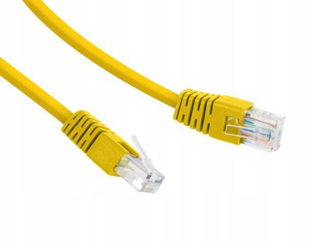 Patch cord Kat.6 UTP 10m żółty