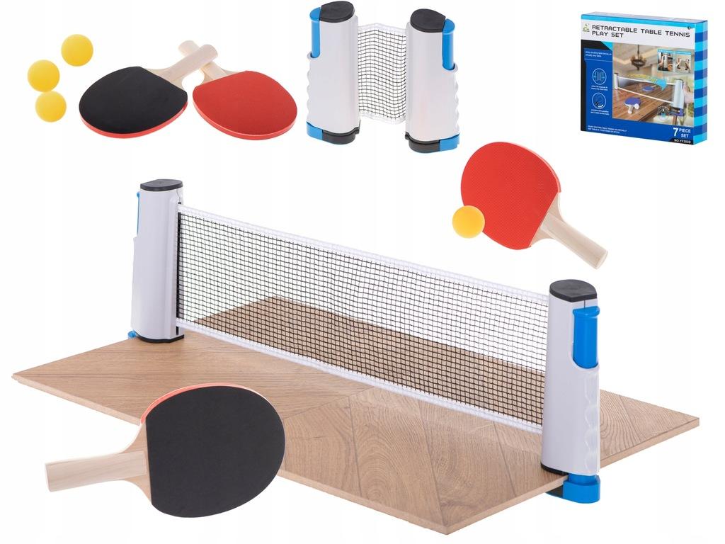 Tenis stołowy ping pong siatka paletki zestaw