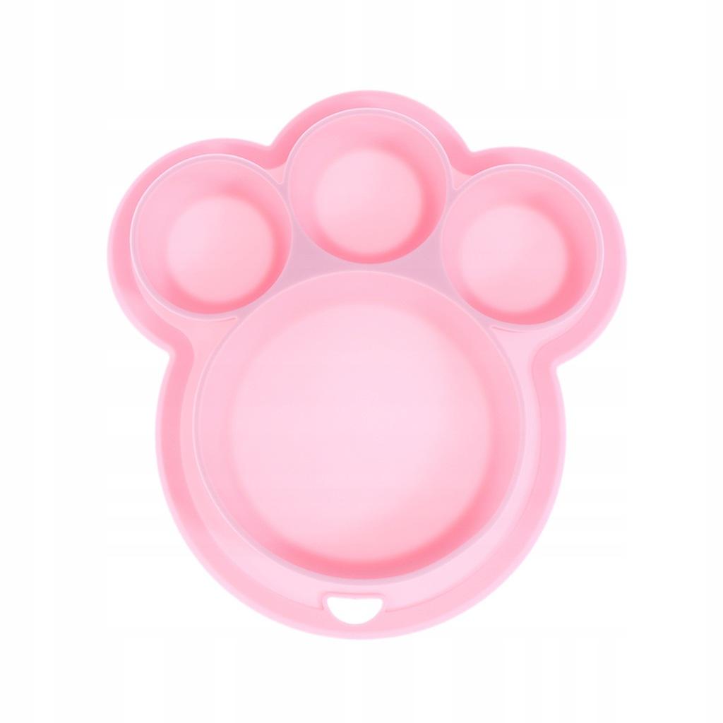 Silikonowy podzielony talerz na jedzenie Niedźwied