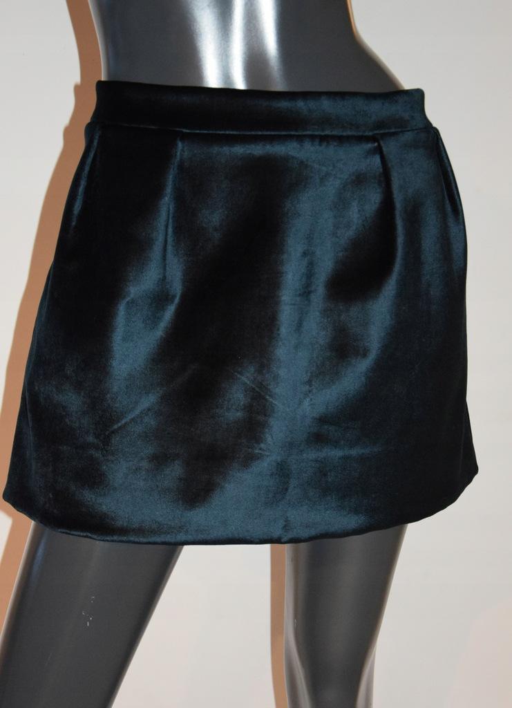 cos zielona spódnica kieszenie aksamit r.42/40