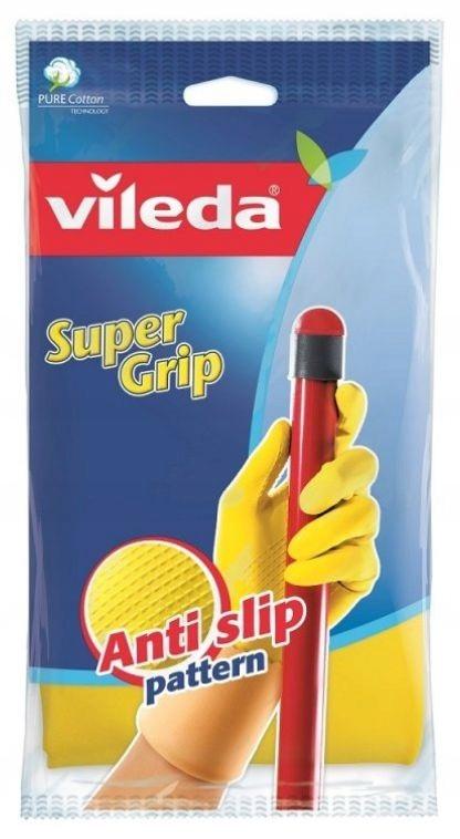 VILEDA rękawice gumowe SUPER GRIP S