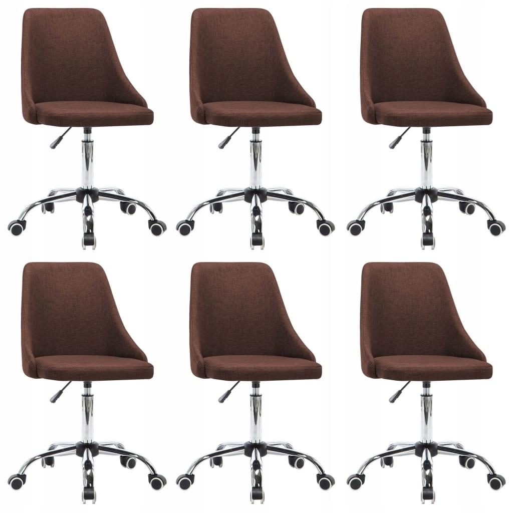stradeXL Krzesła stołowe, 6 szt., brązowe, tkanina