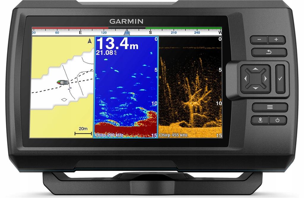 Echosonda z GPS Garmin Striker Plus 9sv Batymetria