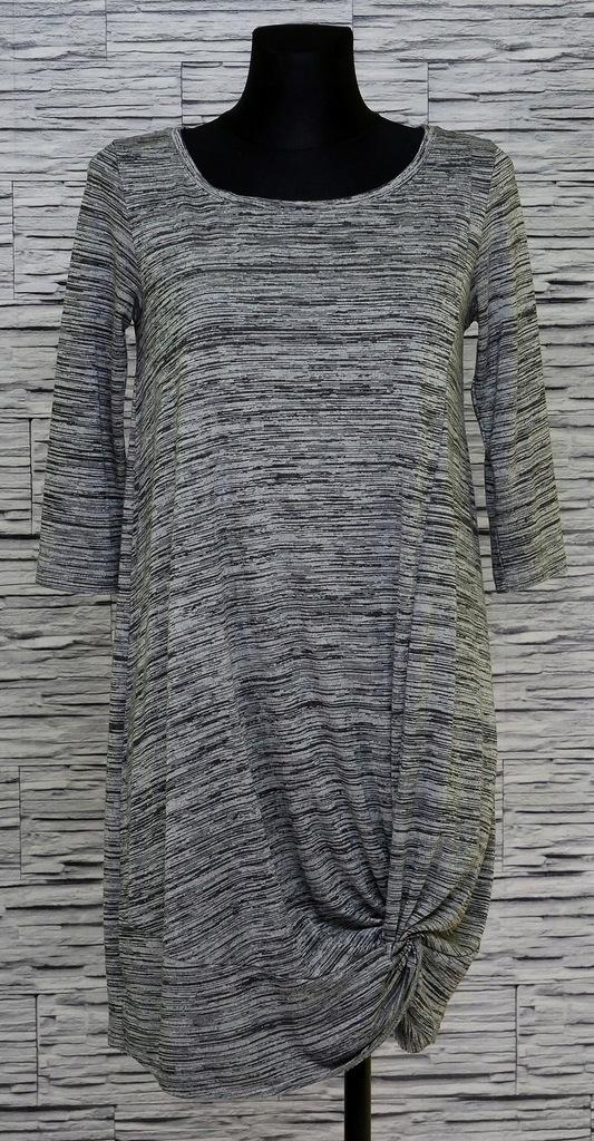 RESERVED Sukienka tunika luźna oversize melanż S/M