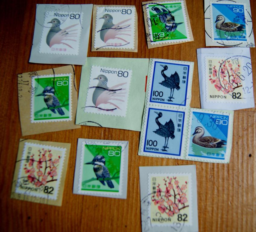WOŚP - znaczki JAPONIA współczesne z obiegu