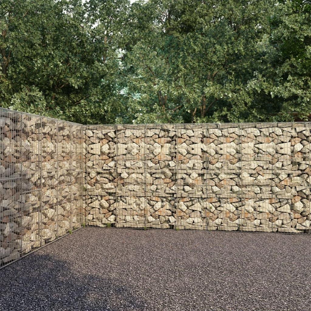 Ściana gabionowa z pokrywami, galwanizowana stal,