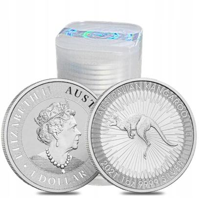 25 x 1 uncja Ag - Kangur 2021 - Australia - Tuba