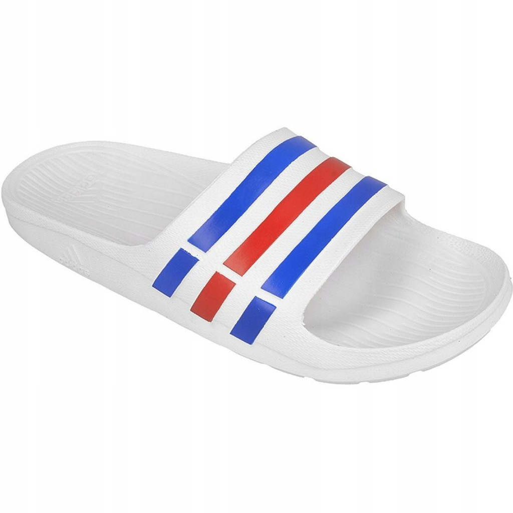 Adidas klapki męskie białe czerwone r.42