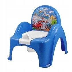 nocnik krzesełko pozytywka Auta niebieski